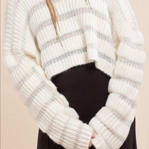 Moon River Variation Textured Ivory Sweater XS